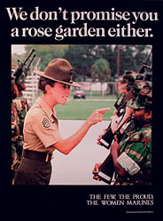 Female Marine Corps Recruiting Poster